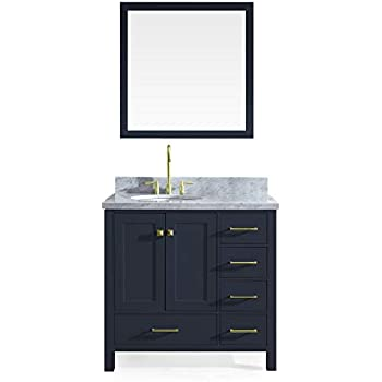 Ariel Cambridge 37 Quot Inch Midnight Blue Bathroom Vanity