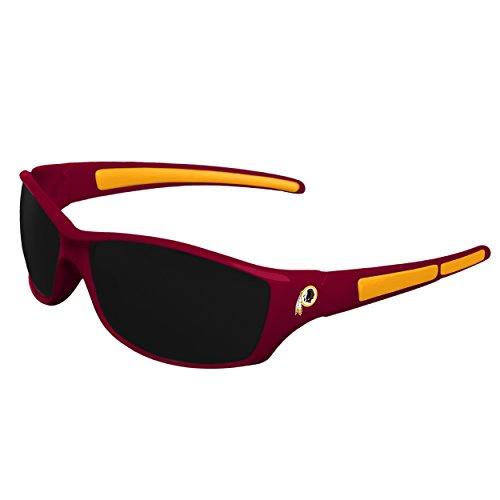 (FOCO NFL Washington Redskins Athletic Wrap Sunglassesteam Logo Athletic Wrap Sunglasses, Team Color, One Size)