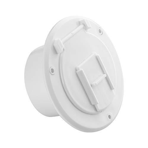 Electric Hatch - Halotronics RV 4 1/4-inch Round Electrical Cable Hatch for 30 Amp Cords (White)