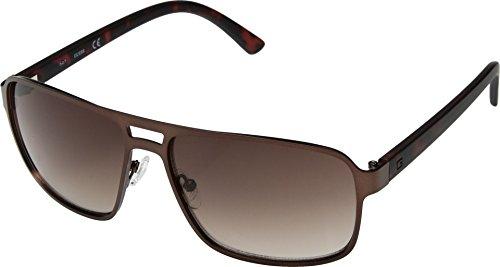 GUESS Mens GF0192 Satin Dark Brown/Brown Gradient Lenses One Size