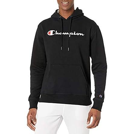 Champion Men's Powerblend Fleece Pullover Hoodie,...