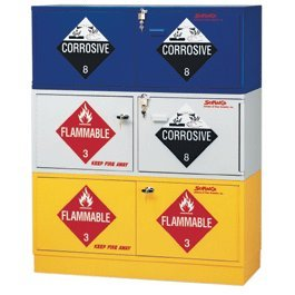 SCIENTIFIC MATERIALS SC2060 Stak A Cab Hazardous Acid/Flammable Combo Storage  Cabinet,