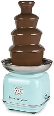 Nostalgia CLCF4AQ Retro Chocolate Fondue Fountain, 2-Pound Capacity, Easy to Assemble 4 Tiers, Perfect For Nac