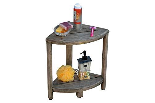 CoastalVogue Oasis 2-Tier Teak Corner Shower Shelf in Coquina Gray by CoastalVogue (Image #5)