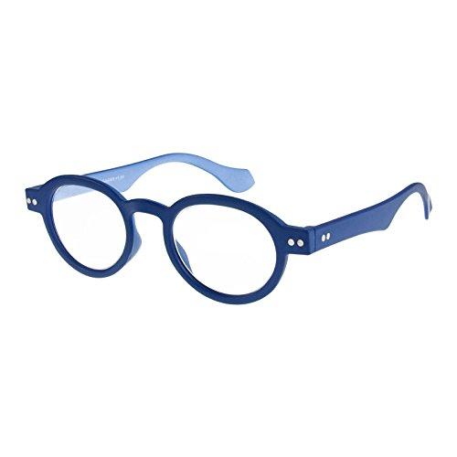 I NEED YOU Round Eyeglass Blue/Blue Frame Doktor Reading Glasses Prescription Eyeglasses For Men & Women Spring Hinge Plastic Eyeglasses With Strength +1.5
