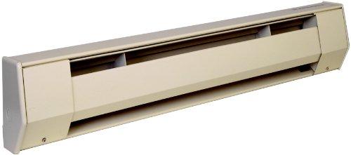 King Electric 5K1212A K Baseboard Heater, 1250W 120V, Almond