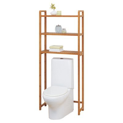 Lohas 66.5 x 28 Wood Over the Toilet Bathroom Shelf by OIA
