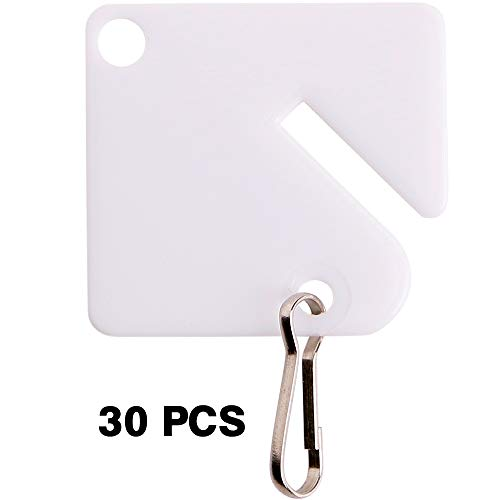 30PCS Plastic White Key Tags