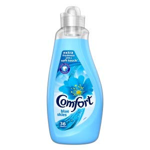 Comfort Blue Skies Fabric Conditioner 1.26L. Laundry Liquids1.26L, Pack of 6