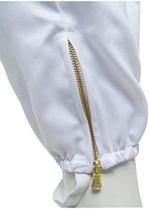 F-MART.UK Beekeeping Protective Clothing BEEKEEPER BEE suit jacket//Round Hat//Metal zip//size MEDIUM M