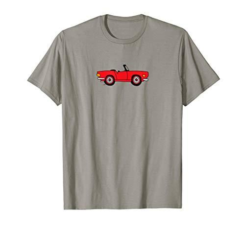 Triumph TR6 Love Red British Cartoon T-shirt -