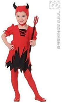 Widmann S. R.l. Disfraz de Pequeña Diabla Tamaño 98-104 ...