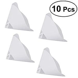 Hemobllo 10pcs Disposable Paper Filament Filters 3D Printer Accessory for SLA Light Curing Filament (White) by Hemobllo