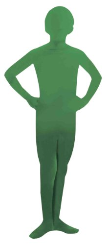 Green Body Suit Costume (Forum Novelties Women's Teen Disappearing Man Solid Color Stretch Body Suit Costume, Green, Small/Medium)