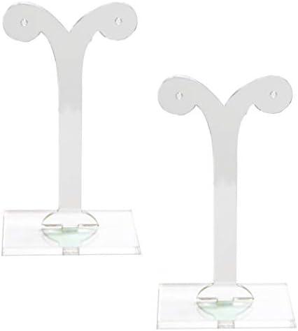 ピアスホルダー イヤリングスタンド イヤリングディスプレイ つぼみ形 アクリル製 クリア 2個セット