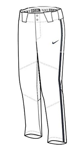 NIKE Stock Vapor Pro Pant Piped Youth Team White/Team Navy/Team Navy Size YXL by NIKE
