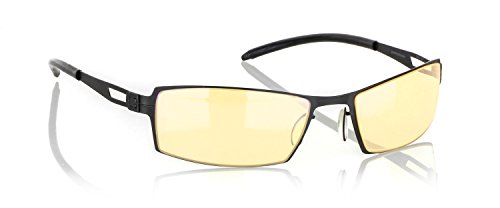 Frame Finish Onyx (Gunnar Optiks G0005-C001Z SheaDog Full Rim Ergonomic Advanced Computer Glasses with Headset Compatibility and Amber Lens Tint, Onyx Frame Finish)