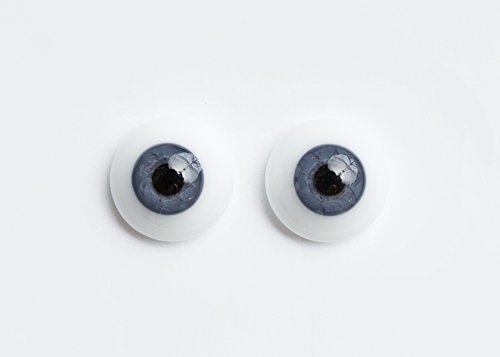 20mm - Exclusive, Half Round German Glass Eyes - 1 Pair - #3308