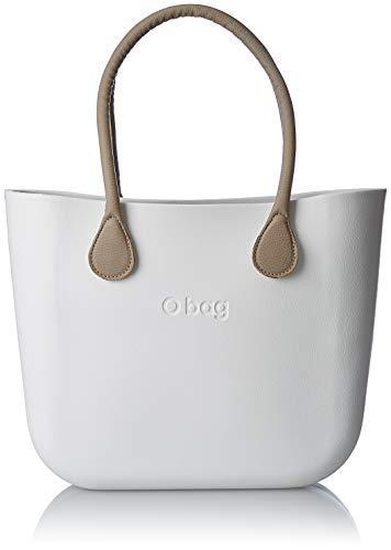 Obag Classic Gems, Borsa A Mano Donna, 14x31x39 cm (w X H L) Bianco