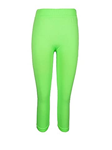 Crush Girls Seamles Capris-Lime Size 7-14