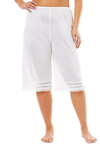 Comfort Choice Women's Plus Size Snip-to-Fit Culotte - White, 1X