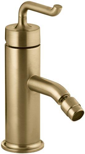 (Kohler K-14434-4-BGD Purist Single-Control Bidet Faucet with Smile Design Handle, Vibrant Moderne Brushed)