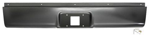 Rear Steel Roll Pan - IPCW CWRS-99 Chevrolet Silverado Steel Fleetside Roll Pan with License Plate Hole and Light