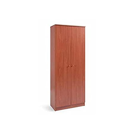 ennobled wood shoe cabinet 2 cherry wood doors 6 shelves 182 x 71 x rh amazon co uk