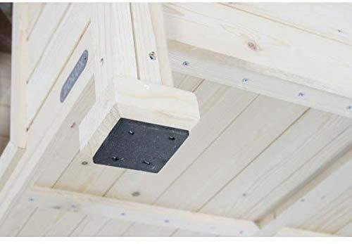 Caseta Madera tejado plano Medium 94 x 72 x 66 cm): Amazon.es: Productos para mascotas