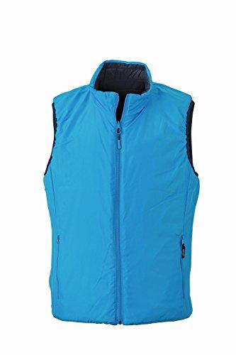 Dupont™ aqua Sorona® Uomo Leggero Men's Navy Reversibile In Con Vest Imbottitura Lightweight Giubbotto Ovatta 0O8wqx