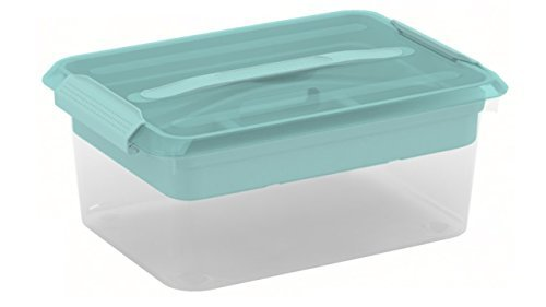 Latchmate Turquoise Storage Box with Tray By Recollections
