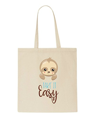 Tote Shopper Beige Take Statement Six Sloth Cute It Easy Bag pYnxPg