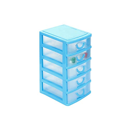 Lodsy Durable Mini Desktop Drawer Sundries Case Small Objects Jewelry Newe Makeup Orage Container,XL,Sky Blue