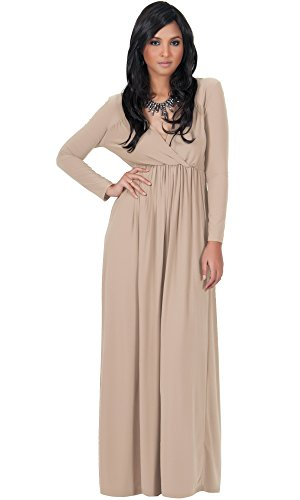 KOH KOH Womens Long Sleeve Empire Cocktail Elegant Evening Versatile Fall Modest (Elegant Evening Wear)