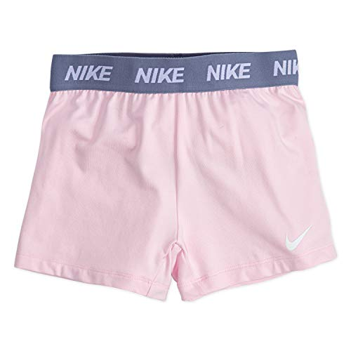 NIKE Children's Apparel Girls' Little Dri-FIT Trophy Shorts, Pink Foam, 5