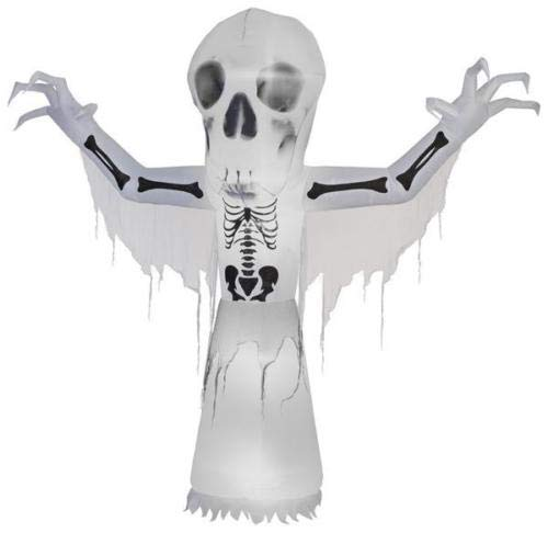 oldzon 10' Inflatable Airblown Short Circuit Thunder Bare Bones Halloween Yard Decoration with Ebook -