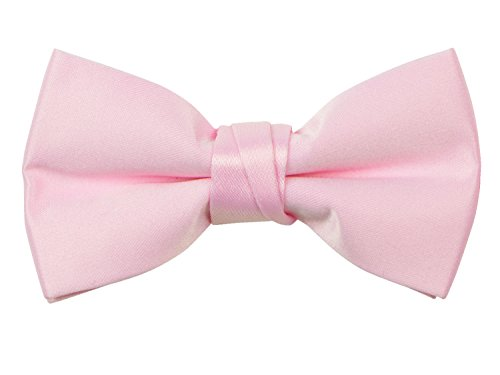 Bow Tie Light - Spring Notion Boys' Pre-tied Banded Satin Bow Tie with Gift Box Large Light Pink