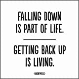 """Quotable Anonymous: """"Falling down is part…"""" - Cards Quotes Greetings Occasions CARD-263-QUOTE"""