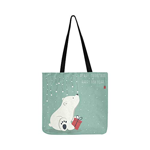 (Cover Design Depicts Seated Little Polar Canvas Tote Handbag Shoulder Bag Crossbody Bags Purses For Men And Women Shopping Tote)