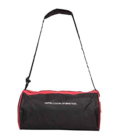 b26a3c9be5b6 United Colors Of Benetton (UCB) Blue   Black Duffle Gym Bag  United Colors  Of Benetton  Amazon.in  Bags