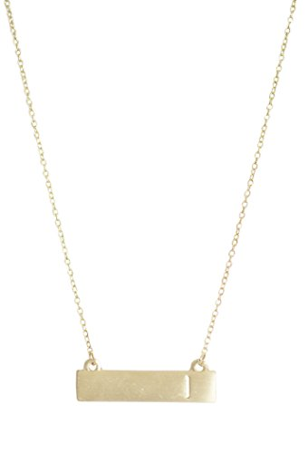 Personalized I Initial Gold Bar Necklace