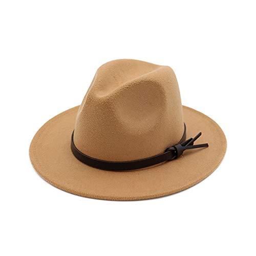 a953708c107 KKONION Fedora Hats Australia Wool Felt Flat Wide Brim British Jazz Hat  Unisex Men Trilby with