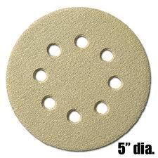 5 Disk, Hook & Loop, 8 Hole Sanding Disks- 150 GRIT by Klingspor