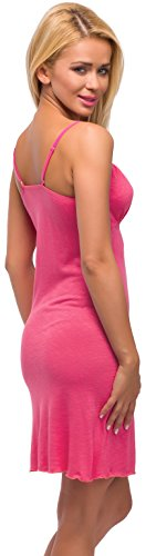 Merry Style Camisón peara mujer Modelo 975 Rosa