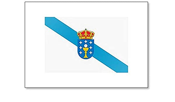 Bandera de España Autonomous Community Galicia – Imán clásico para nevera: Amazon.es: Hogar
