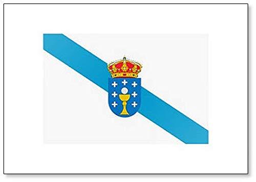 Bandera de España Autonomous Community Galicia - Imán clásico para ...