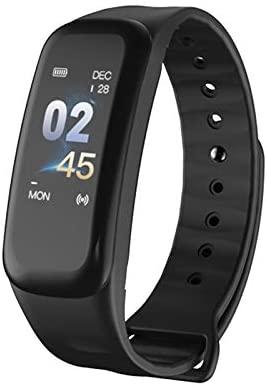 VEVICE 1PC C1s Fitness Tracker, Smartwatches con Pulsómetro Monitor de Paso Contador de Actividad Pulsera Inteligente con IP67 Impermeable Bluetooth ...