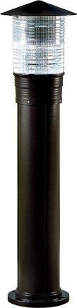 Dabmar Lighting D360-B Powder Coated Cast Aluminum Bollard, Black
