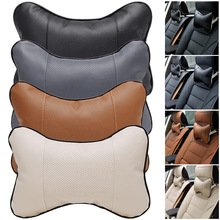 NUMBERNINE,Perforating Design Artificial Leather Hole-digging Car Headrest Supplies Neck Auto Safety Accessories Car Styling Accessories - Sunglasses Gray Vs Brown