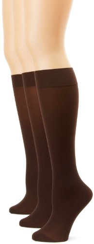 Womens Soft Opaque Knee High - Soft Opaque Knee High Socks (Pack of 3)